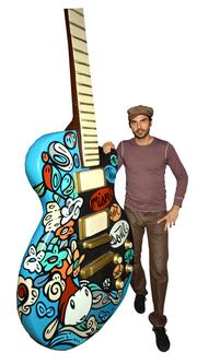 LEBO worked with Gibson Guitars on several projects, including designing artwork for some instruments.