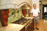 Rick Pierchalski in his kitchen at his century-old farmhouse near Donegal.