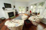 A family room that was added onto her Rosslyn Farms Victorian home in the fall of 2012.