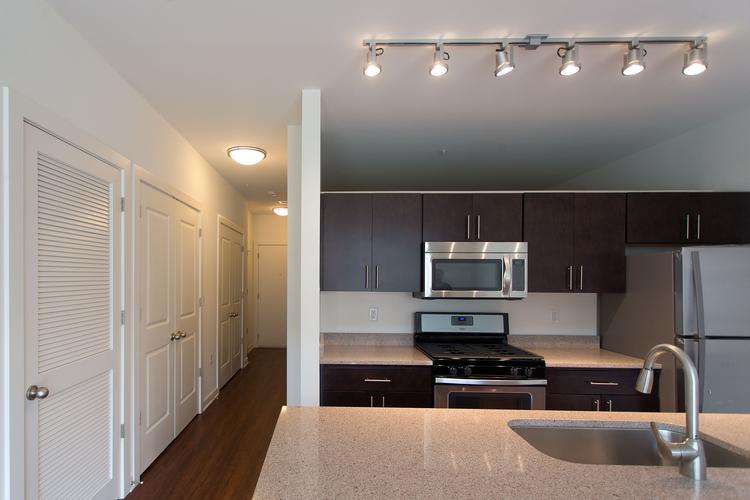 Apartments at recent development projects have become every bit as aspirational as homeownership. Rental rates for apartments such as this one at Metro Centre in Owings Mills start at $1,580 a month.