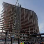 MGM National Harbor tops out, shifts focus inside