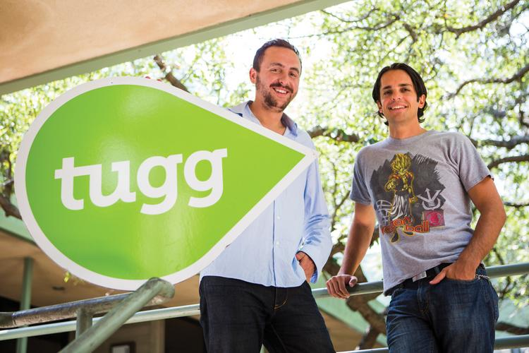 Tugg co-founders Nick Gonda (left) and Pablo Gonzalez have a soft spot for movie theaters.