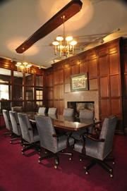 A conference room. A medical practice used the space before a founding principal of the Deily Mooney & Glastetter law firm acquired it in 1996.