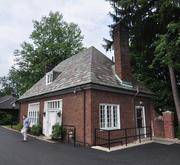 The property's two-story carriage house, which houses the law firm's accounting department.