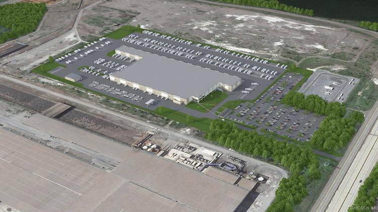 a rendering of the future fedex distribution center at tradepoint formerly sparrows point