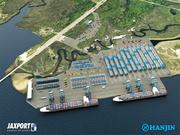 A rendering of the now cancelled Hanjin terminal at Jaxport.