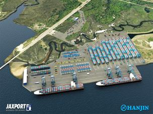 A rendering of the previously proposed Hanjin terminal at Jaxport.Hanjin has decided not to build the $300 million terminal.
