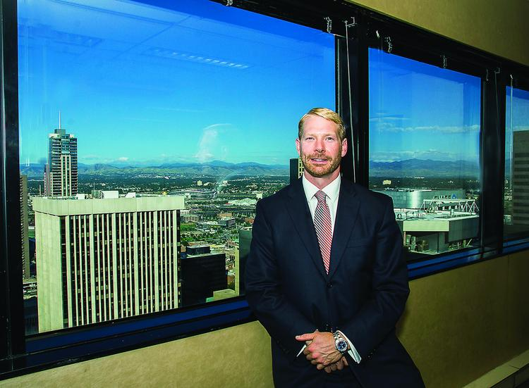 Ethan Braid, president of High Pass Asset Management in his office.
