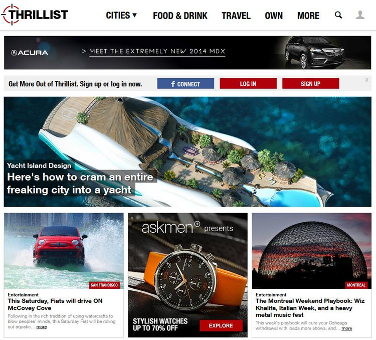 Thrillist.com, which caters to men, will be expanding around the globe.