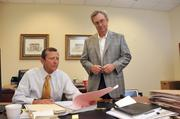 Thomas Michael and Kent Wunderlich of Financial Federal Savings Bank in Memphis.