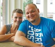 Summer and Dave Schoenhals own and operate Cake Face Bake Shop. The Schoenhalses chose to start their business in a food truck because it was cheaper than opening a brick-and-mortar store. They're looking for retail space now, but they like the mobility of their truck.