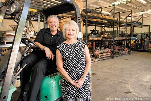 Ted and Annette Springer diversified their business, Springer Equipment Co., by launching a new unit focused on salvaged forklift parts.