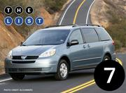 No. 7: Toyota Sienna Number sold: 8,133