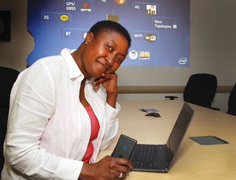 Aicha Evans is vice president of Intel's critically important Mobile and Communications Group.
