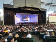 Thursday night's memorial tribute to George P. Mitchell at Cynthia Woods Mitchell Pavilion