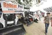 Vendors show their products throughout the fairgrounds.