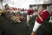 University of Wisconsin Marching Band members and Bucky Badger put some added energy into the proceedings.