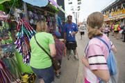 Dail Sullivan of East Coast Concessions sells his wares on the main strip.