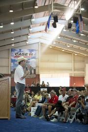 Wisconsin Gov. Scott Walker at the Governor's Red, White and Blue Ribbon Livestock Auction