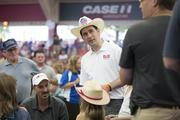Gov. Walker interacted with fairgoers at the auction.