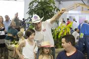Walker talked to young fairgoers.