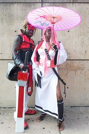 Randallstown residents Darrell Williams and Chandra Williams dressed as Solbadguy and Baiken from the game Guilty Gear for Otakon 2013.