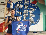 He painted a large mural in downtown Miami with a deconstruction of the Pabst Blue Ribbon brand