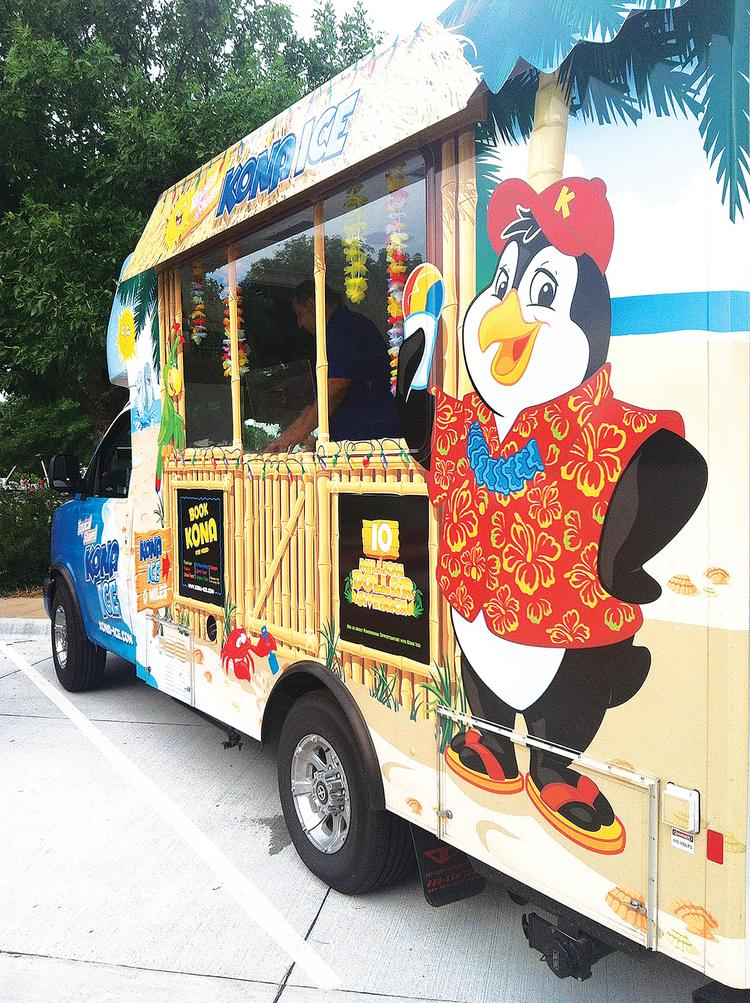 Carmond and Matt Young opened a Kona Ice franchise in Wichita this summer.