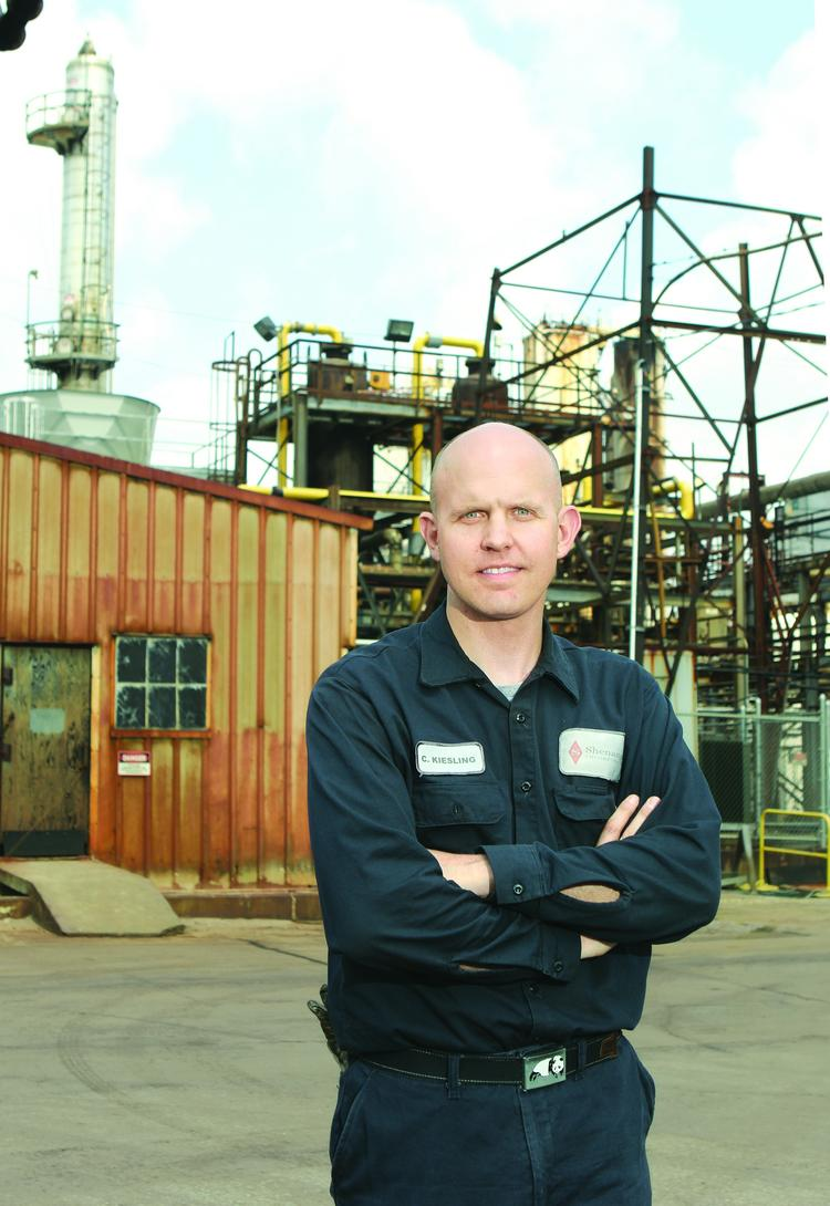 Chris Kiesling is the plant manager at Shenango Inc. on Neville Island.