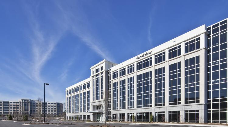the five story perimeter four office building in morrisville opened in late 2015 and is
