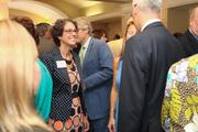 Melanie Harris of Watson Realty Corp. networking before the event.