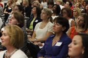 Guests listen to speakers during the launch of Evolve Women.