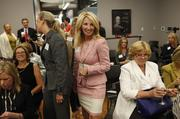 Connie McGee prepares to speak during the launch of Evolve Women.