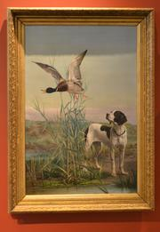 """Eugenio Cecconi's """"Pointer and Duck."""" The date it was painted is unknown."""