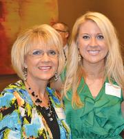 Marlene Henson, left, and Sarah Pritchard, guests of honoree Jeff Clark