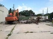 The demolished Shell gas station in Avondale where Mellow Mushroom will be built.