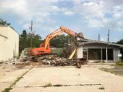 Demolition of the old Shell gas station in Avondale where Mellow Mushroom will be built.
