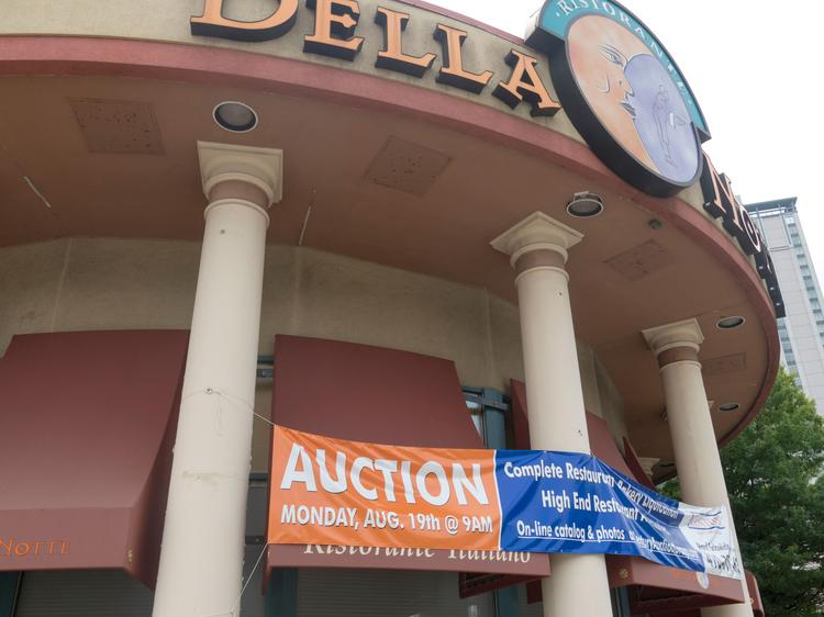 Della Notte's items, from dishware to dining room tables, are headed to the auction block Aug. 19.