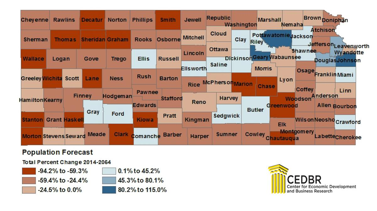 Guess Where Nearly A Third Of Kansans Will Live In 2064 Kansas City Business Journal