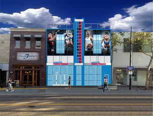 The local California Family Fitness chain said Thursday that it will open a downtown Sacramento gym in late summer. This is a rendering of what the gym will look like from the outside at 1012 K St. The new gym will replace California Family Fitness' cramped gym in the basement at 428 J St.