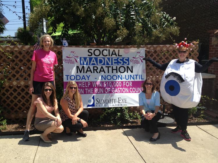 Summit Eye Associates' Social Madness run ended at midnight, but the company is still working to support its charity partner, Girls on the Run of Gaston County.