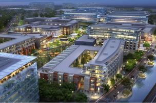 An aerial of Verizon's Hidden Ridge mixed-use development, which is expected to cost upwards of $1.5 billion.