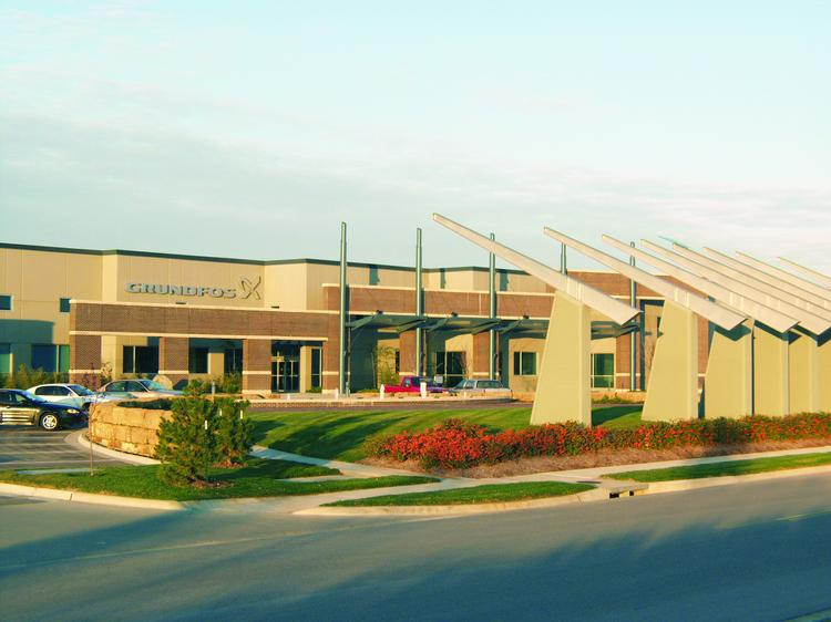 Grundfos Pumps Corp. has secured a five-year lease extension on its Olathe facility, allaying concerns that the company might be planning to send a significant number of jobs to Chicago.
