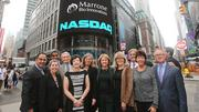 Marrone Bio Innovations rang the opening bell at the Nasdaq stock market on Monday. The company recently began trading as a public company.