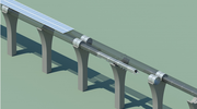 Hyperloop	capsule concept: in	tube	cutaway	with	attached	solar	arrays.