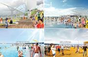 Artist renderings of plans for the post-viaduct Seattle waterfront.