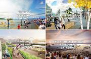 Artist renderings of plans for post-viaduct Seattle waterfront.