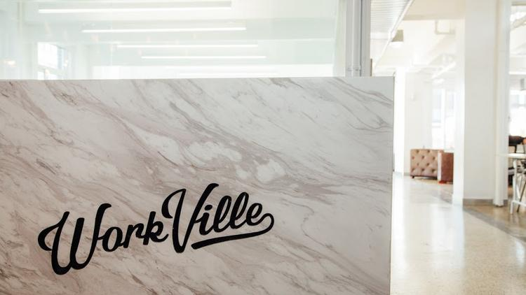 WorkVille had its grand opening in February. Among its features are high speed wifi, access to a shared kitchen and meeting rooms.