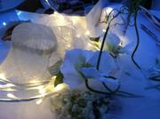 The design on one table at Seattle's Diner en Blanc Aug. 10 at Gas Works Park in Seattle.