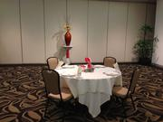 A table in the new  Pomaikai Ballroom at Dole Cannery in Honolulu